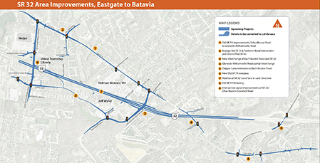 Click the map above to view the SR 32 Area Improvements, Eastgate to Batavia improvements