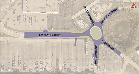 Eastgate South Drive Roundabout Map